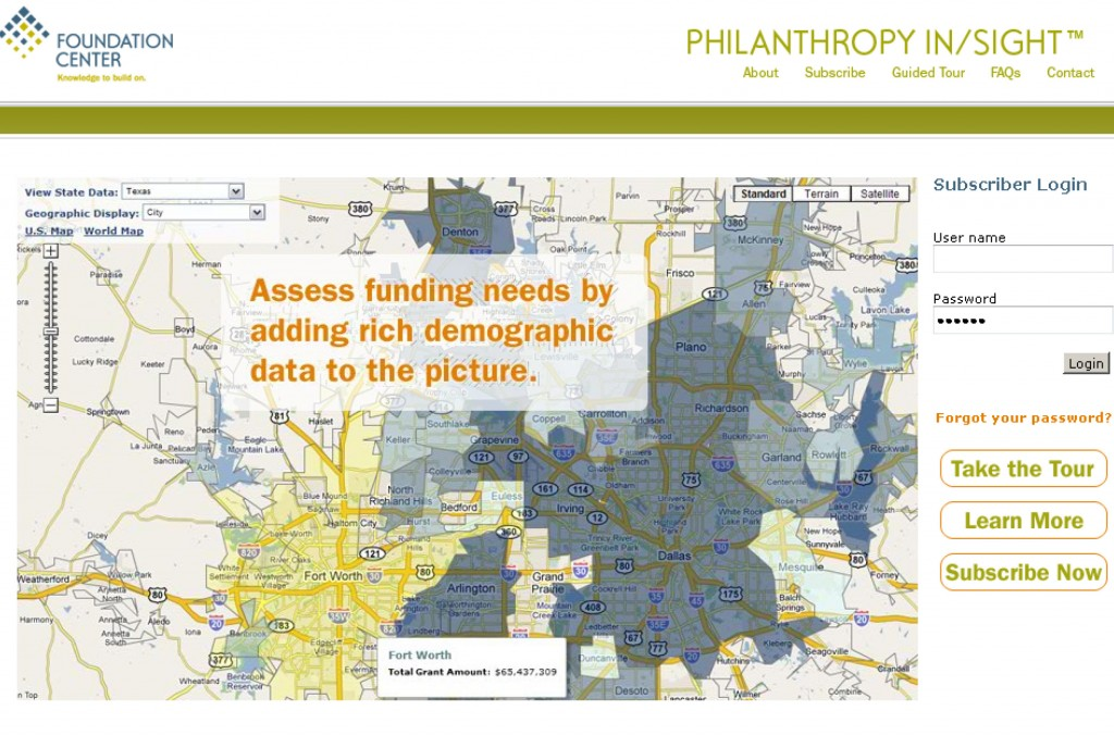 Philanthropy Insight Screenshot